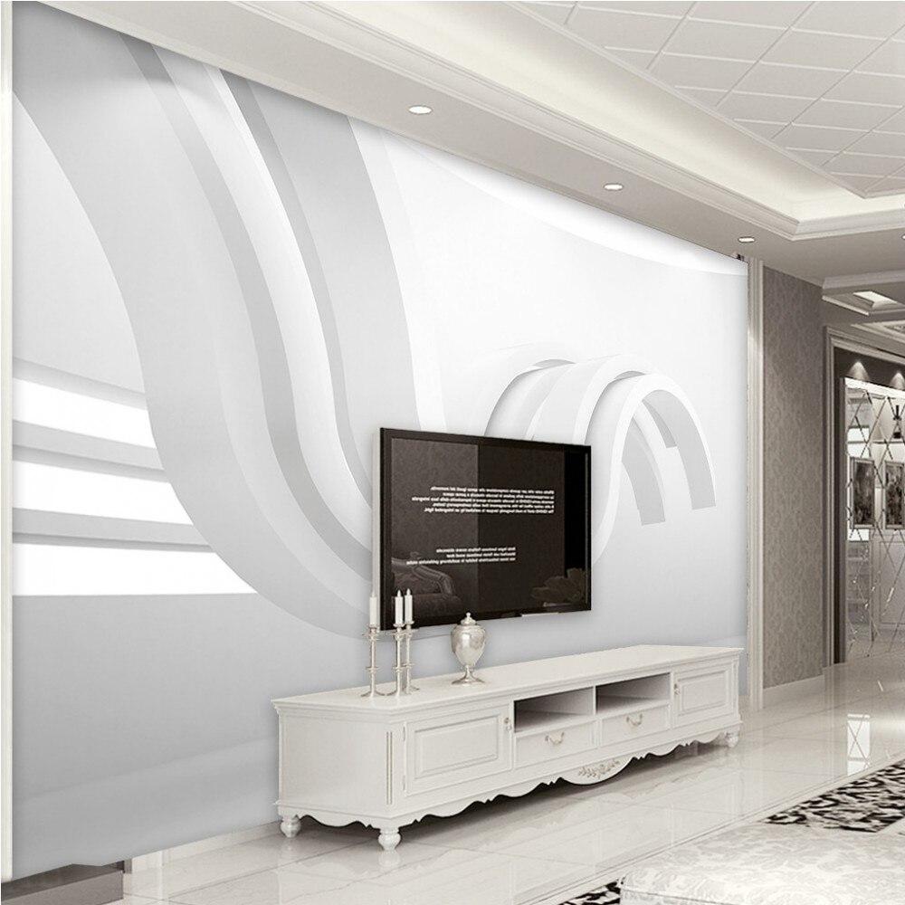 Livraison gratuite papier peint personnalisé moderne minimaliste géométrique abstrait graphique Art 3d espace fond Mural salon déco