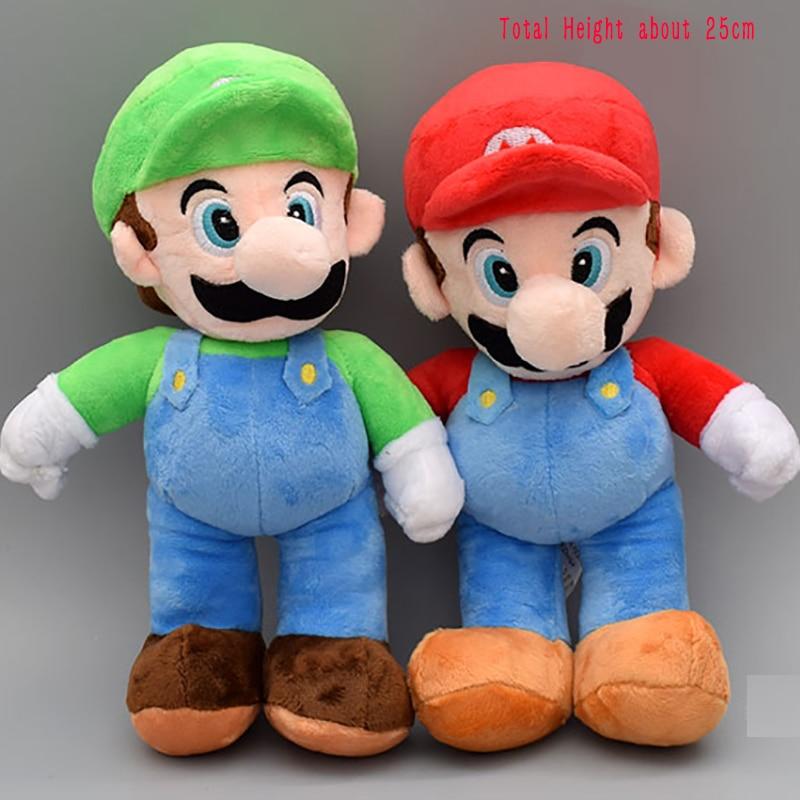 "10/"" Super Mario Bros LUIGI /& MARIO Plush Doll Stuffed Animal Toy Teddy Xmas Gift"