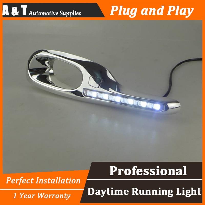 car styling For Honda FIT LED DRL For FIT High brightness guide LED DRL led fog lamps led daytime running lights