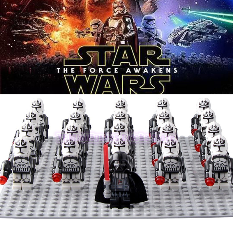 LegoING Star Wars Clone Soldiers Corps Playmobil Building Blocks Imperial Army Action Figures Children Gift Toys