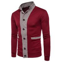 Mens button knitting sweaters pullover for man fashion stitching knit cardigan casual sweater male tops 6 colour