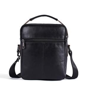 Image 2 - WESTAL mens shoulder bag for men genuine leather bag casual crossbody bags top handle handbags small messenger bags male 8211