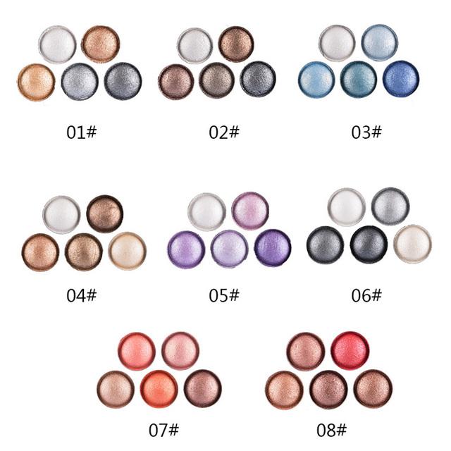 Profesionálne pigmentové očné tiene Kazeta 5farieb 8vzorov Eyeshadow Palette