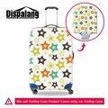 Dispalang estrela impressão bagagem malas de viagem bagagem capa protetora à prova d' água caso capa aplicar para 18-30 polegada trecho cobertura de bagagem
