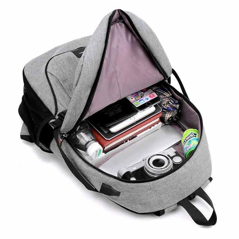 النساء والرجال حقيبة 2019 موضة جديدة متعددة الوظائف usb شحن محمول على ظهره الرجال حقيبة طالب المرأة بلون حقائب الظهر الإناث