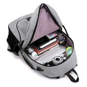 Image 5 - 2020 nova moda multifuncional de carregamento usb portátil mochila saco do estudante das mulheres cor sólida mochilas femininas