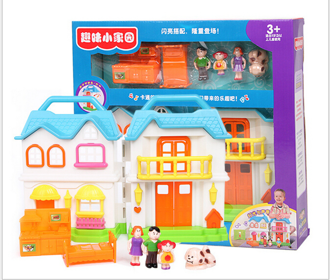 Princess Girls Play House Villa Toys Sweet Home Outfit Gift Box