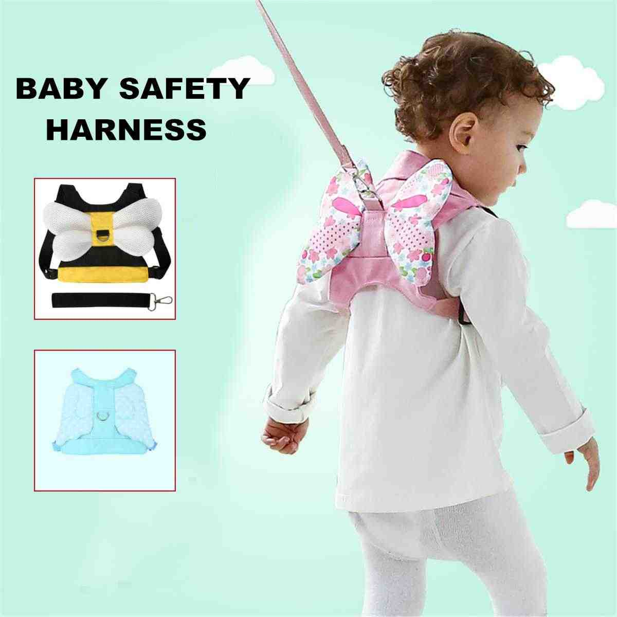 Baby Toddler Safety Harness Anti-Lost Back Belt Leash Walker Shoulder Strap Walking Learning Assistant Outdoor Activity Gear