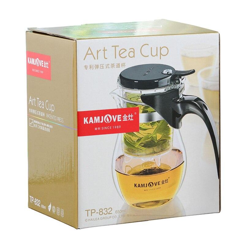 GRANDNESS Kamjove TP 832 Elegant cup flower tea pot heat resistant glass tea set Kamjove