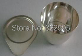 50ml 99.99% SILVER crucible WITH cover good quality 10ml ptfe teflon crucible breakers with cover