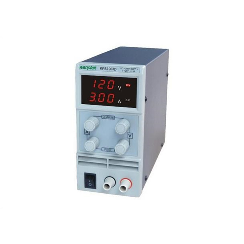 KPS1203D Adjustable High precision double LED display switch DC Power Supply protection function 120V3A 110V/220V 0.1V/0.01AKPS1203D Adjustable High precision double LED display switch DC Power Supply protection function 120V3A 110V/220V 0.1V/0.01A