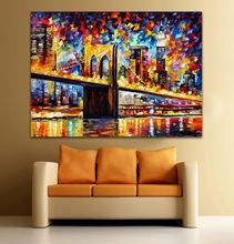 100% Hand-painted European Cityscape Canvas Oil Painting Charming Architecture Art Palette Knife Picture Home Office Wall Decor