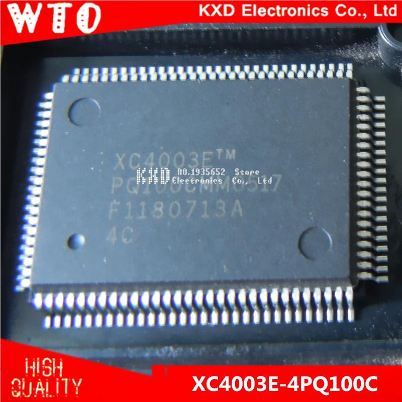 Free Shipping XC4003E 4PQ100C XC4003E 4PQ100 QFP 100 10pcs lot