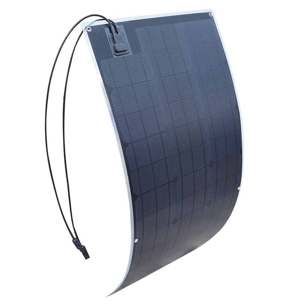 20.5 v all'aperto ETFE Pannello Solare Flessibile 100 w Monocristallino Cella Solare per Auto/Barca/Nave A Vapore 12 v 100 Watt Solare Batteria