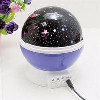 2017 Children Kids Baby Sleep Lighting Sky Star Master USB Lamp Led Projection Romantic Rotating Spin