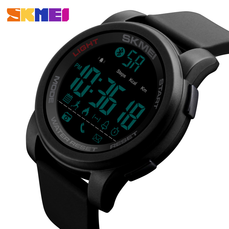 SKMEI Bluetooth Men Smart Watch Sports Watches 50M Waterproof Wristwatches Chronograph Fitness Tracker Relogio Masculino 1442