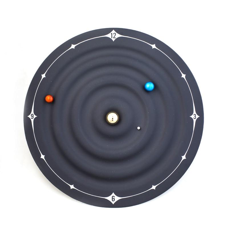*Concept Solar System Planetary Magnetic Clock Creative Bedroom Art Clock Mars Venus Earth Series Clock