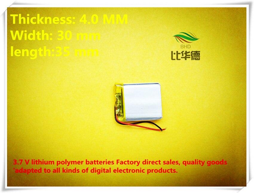 (Envío libre) 3.7 V 403035 380 mAh batería de polímero de iones de litio calidad productos de calidad de autoridad de certificación del FCC RoHS del CE