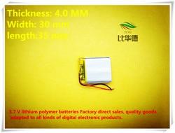 (Frete grátis) 3.7 V 403035 380 mah bateria de lítio-ion bateria de polímero de qualidade de produtos de qualidade de autoridade de certificação CE FCC ROHS