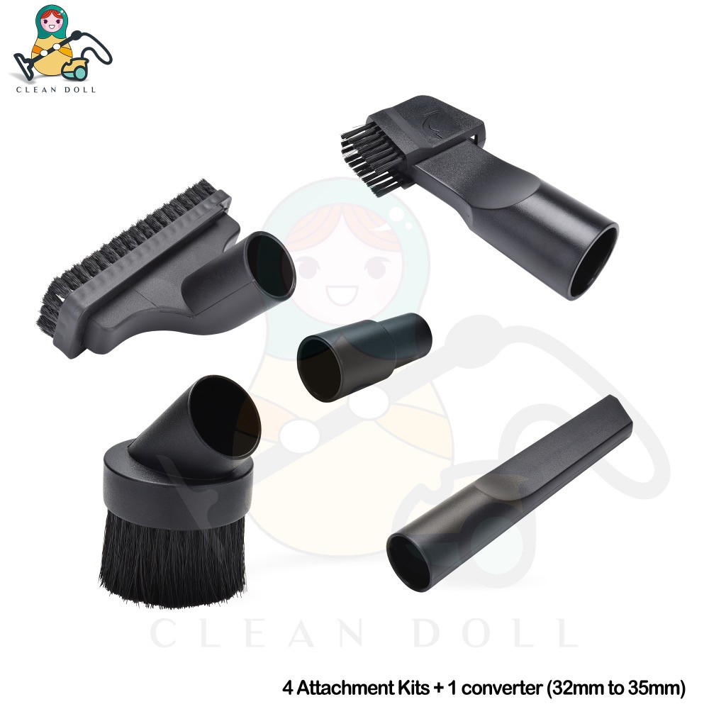 CLEAN DOLL 5-Piece  Mini Tools Nozzle Kit for Karcher MV2 A2004 A2024 WD2 WD3 WD3P DS 5500 Vacuum Cleaners (For32/35mm Diameter)CLEAN DOLL 5-Piece  Mini Tools Nozzle Kit for Karcher MV2 A2004 A2024 WD2 WD3 WD3P DS 5500 Vacuum Cleaners (For32/35mm Diameter)