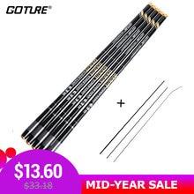 Goture GOLDLITE Fishing Rod 3.6-7.2M 2/8 Power Hard Carbon Fiber Telescopic Fishing Rods for Stream Carp Fishing, 1 Rod+3 Tips