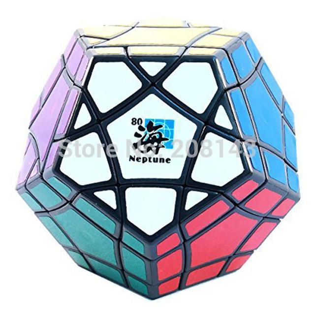 MF8 Megaminx Neptuno Bermuda Triangle Cubo Mágico de Plástico Negro Venta Caliente Rompecabezas Twisty Puzzle de Juguetes para Niños y Adultos
