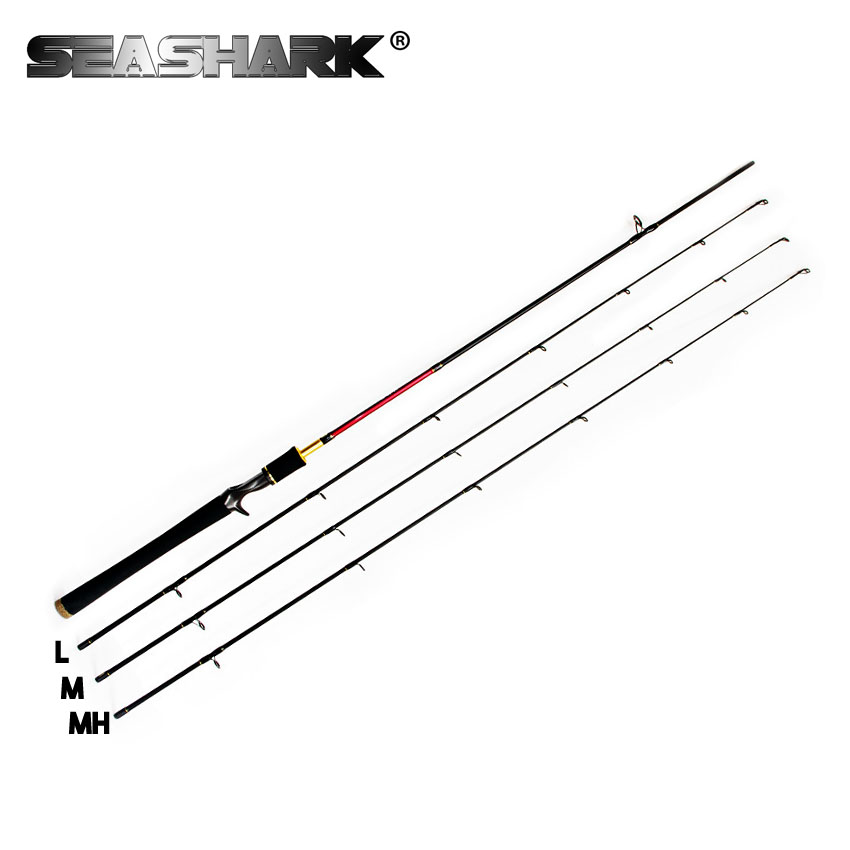 SEASHARK  2.1m 3 Tips M L MH Carbon Fishing Rod Spinning Rod Casting Rods  Fishing Tackle Baitcasting Pole Carp Olta Pesca Pehce fish hunter road asian pole lightning rod grips quake 2 2 m mh tune fishing rods lrtc3 762mh