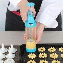 Cookie, Der Pistole Cookie Presser Gebäckhersteller Lcing Form Mit 12 Blume Form und 6 Dekorieren DIY Backen Mund Küche werkzeuge