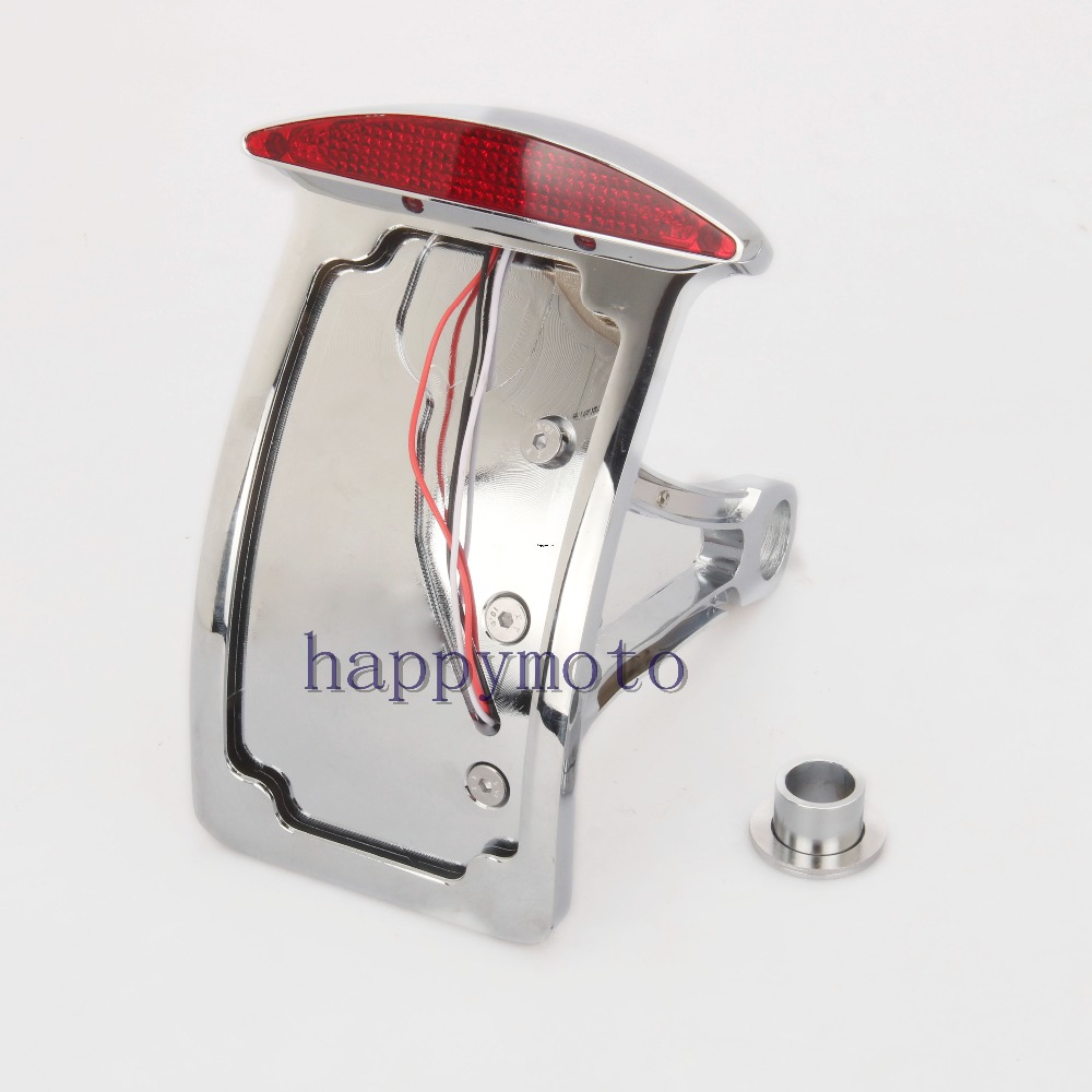 Motorcycle accessories Chromed side mount license plate Curved bracket tail light for HARLEY Sportster Bobber V-ROD olga skazkina