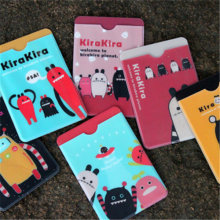 1PCS/LOT Freeshipping cute design cartoon card bag bus card double deck card case fashion gift(China)
