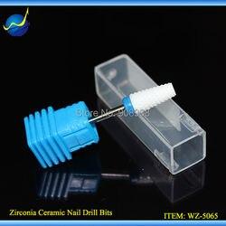 Nowy 1 pc parasol T shirt biały paznokcie ceramiczne wiertła elektryczny pilnik do paznokci Podiatry Manicure Pedicure przyrząd do usuwania naskórka do czyszczenia