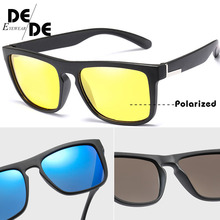UV400  Hot Sale TR90 Polarized Sunglasses with Case Women Square Driving Sun glasses Men Night Vision