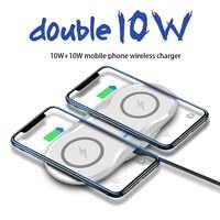 20W Double Chargeur Sans Fil 2 en 1 Pour iPhone 11 Pro XR XS X 8 AirPods Qi Double 10W Borne De Recharge Rapide pour Samsung S10 S9
