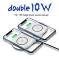 20W Dual 2 in 1 Wireless Charger Pad For iPhone 11 Pro XR XS X 8 AirPods Qi Double 10W Fast Charging Station for Samsung S10 S9