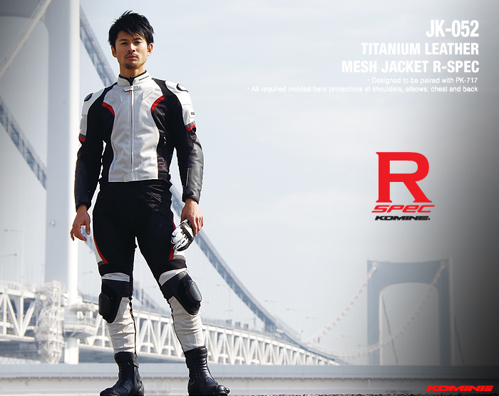 New arrival JK 052 Titanium Leather Mesh Jacket R Spec motorcycle jacket summer jacket