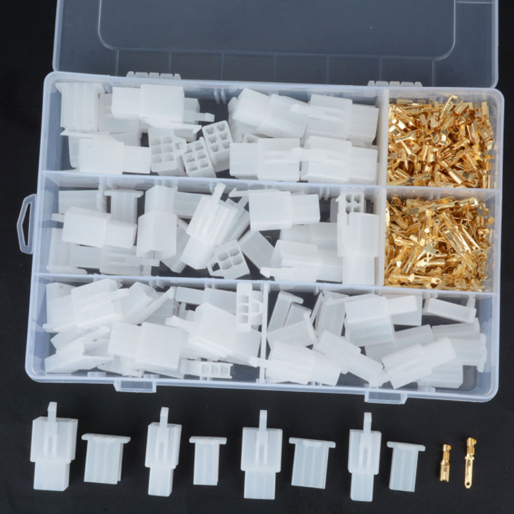 380pcs 2.8mm 2 3 4 6 Pin Male Female Plug Housing Header Crimp Wire Terminals Connector Assortment Auto Electrical Kit Cable ...