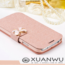 2016 Luxury Silk Pattern Flip Cover For Samsung Galaxy S4 i9500 s3 i9300 s5 s6 s7 edge Case PU Leather Phone Bags Flowers Cases