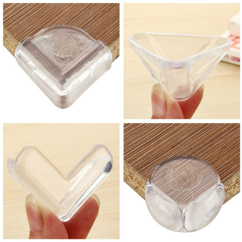 10pcs Baby Safety Desk Table Corner Edge Protection Transparent Spherical Collision Angle Protection Cover for Children's Safety