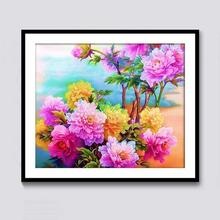 Diy diamond painting full landscape cross stitch living room bedroom decoration peony