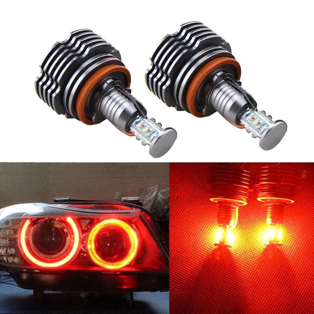 2pcs/pair E92 BRIGHT RED H8 Angel Eye for BMW E90 E91 E92 E93 F01/F02 E70 E71 E89 LED Marker Headlight HALO RINGS