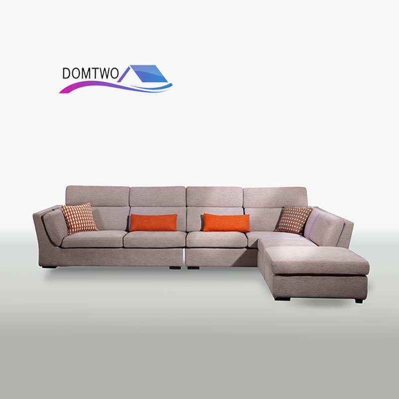 Living Room Furniture Corner House Type Cotton Down Sofa