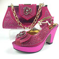 Pink Color African Shoes and Matching Bags Italian Women Shoes and Bag To Match for Party High Quality Italian Shoe and Bag Set