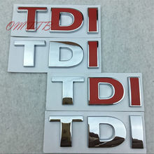 Car styling TDI Badge Emblem Decal car Sticker for VW Golf JETTA PASSAT MK4 MK5 MK6 skoda seat car accessories car-styling(China)