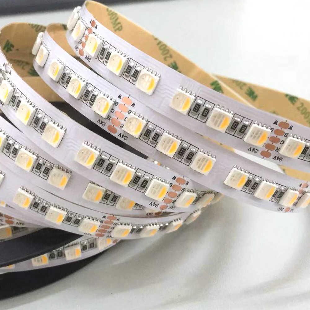 Taśmy LED 5050 4IN1 RGBW RGBWW światła 24 V 12 V elastyczne oświetlenie do dekoracji domu 60 diod LED 96 diod LED/m RGB + biały/RGB + ciepły biała lampa