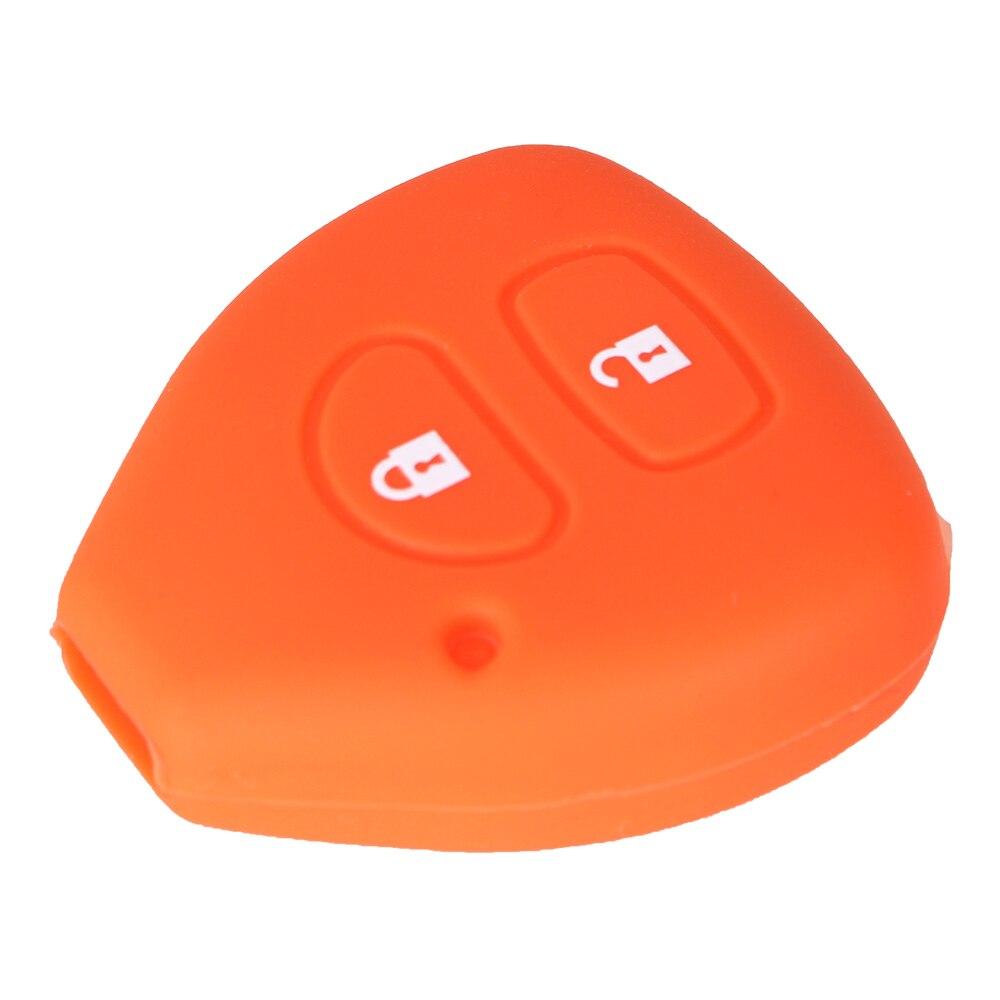 Dandkey 2 Buttons Silicone Key Case Shell Cover For TOYOTA Corolla Hilux Vitz Rav4 Aqua Camry Car-styling