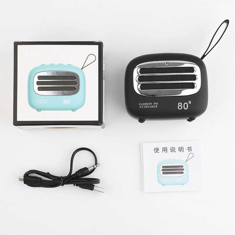 Ретро беспроводной мини Bluetooth динамик портативный сабвуфер музыкальный плеер Поддержка TF карты водостойкий HiFi без потерь видео