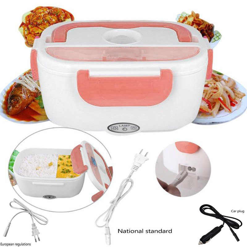 Lunch Heating Car Box Electric Container Portable 12V 110V 220 Heated  Food Warm