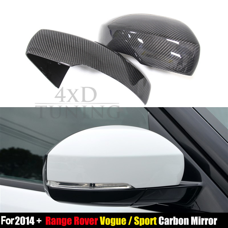1 : 1 Replacement For Land Rover Range Rover Sport & Vogue Carbon Fiber Mirror Cover Side Mirror 2014 2015 2016 2017 carbon fiber style abs plastic for land rover range rover evoque 12 17 center console gear panel decorative cover trim newest