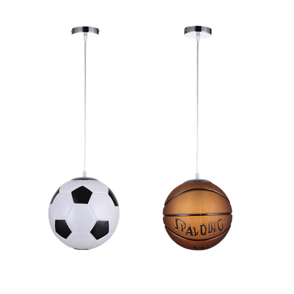 Image 1 - Cartoon Soccer Basketball Pendant Lamp for Children Bedroom Room Decorative Corridor Aisle Home Lighting hanging lamp Fixtures-in Pendant Lights from Lights & Lighting
