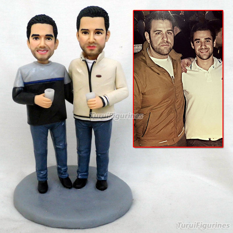 brother gay lesbian Valentine's day gift for your boyfriend wedding cake topper custom Birthday cake topper decoration figurines|Statues & Sculptures| |  - title=